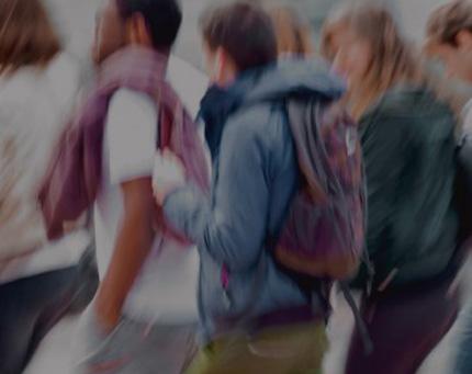 Viaje en grupo de escolares