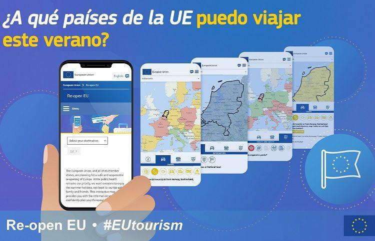 «Re-open EU», una web para saber al minuto a dónde puedes viajar dentro de la Unión Europea